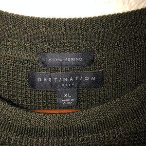 J.Crew Destination Merino Wool Waffle Knit Sweater